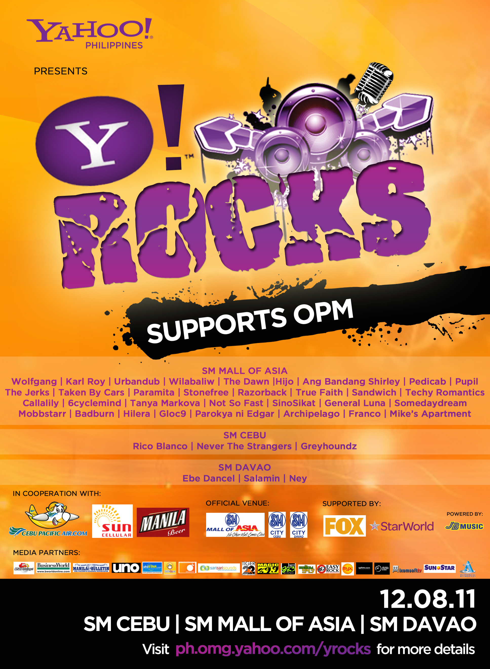 "Celebrating ""Original Pilipino Music"", Yahoo!, the premier digital media company, hosted Y! Rocks"